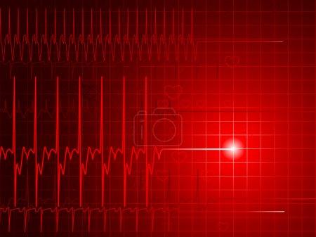 Red EKG background