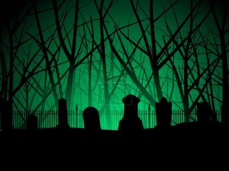 Creepy graveyard