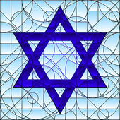 Star of David rendered in stained glass style