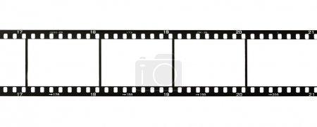 Photo pour Bande de film 35mm, isolée sur blanc - image libre de droit