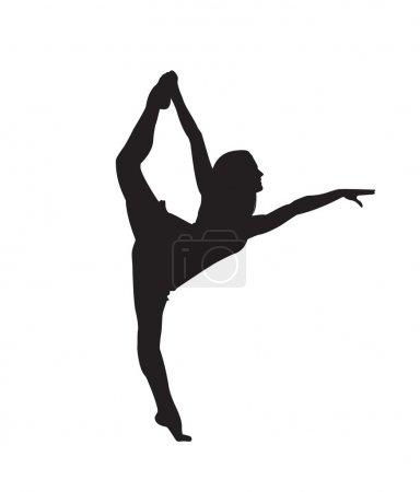Print. silhouette of a ballerina who dances