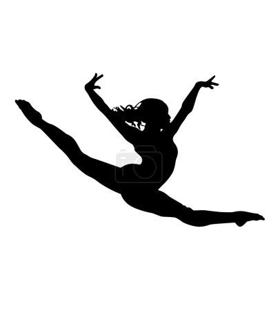 Illustration pour Danse de ballerine - image libre de droit