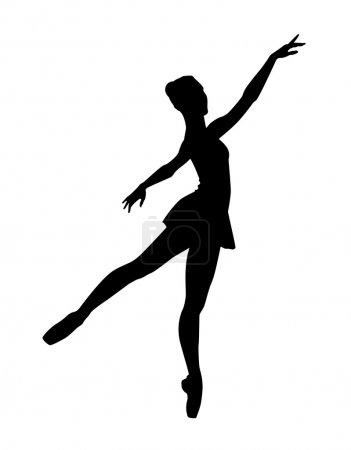 Illustration for Ballerina dancing dance - Royalty Free Image