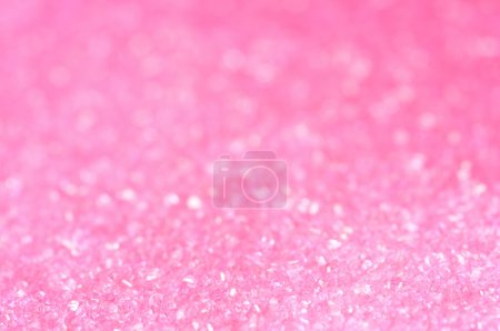 Photo for Pink sugar sparkle background with focus in the front - Royalty Free Image