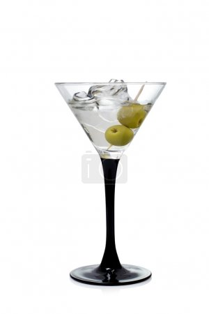 Photo for Martini with olives on a white background - Royalty Free Image