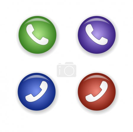Telephone receiver icon set