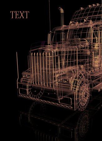 3d booth of truck