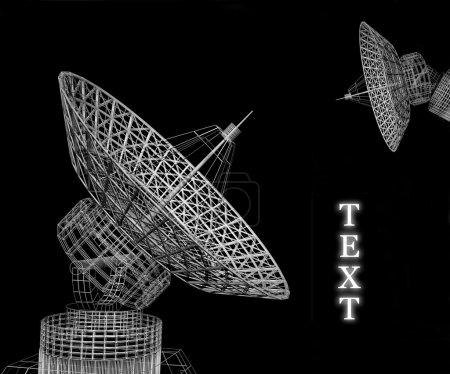 Photo pour Disques satellites - image libre de droit