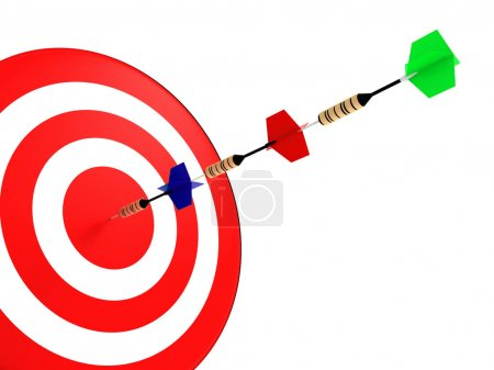 Photo for Darts hit the target - Royalty Free Image