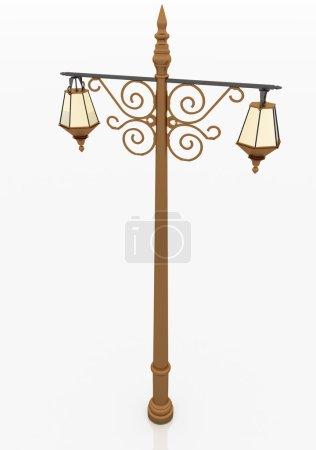 Street lantern in retro style