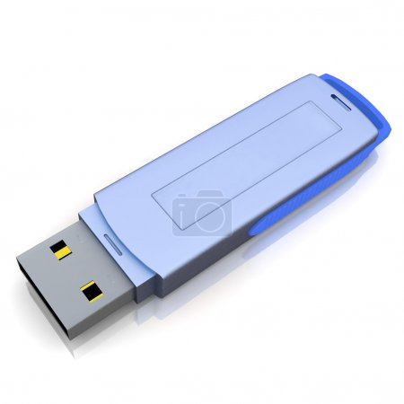 Foto de Memoria flash USB aislado sobre el fondo blanco - Imagen libre de derechos