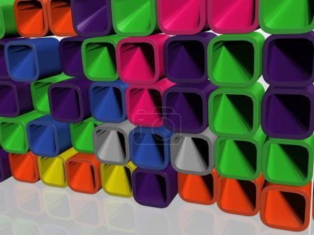 Photo for Wall from the coloured, geometrical figures - Royalty Free Image