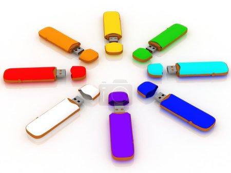 Foto de Unidad de almacenamiento USB aislado en blanco - Imagen libre de derechos