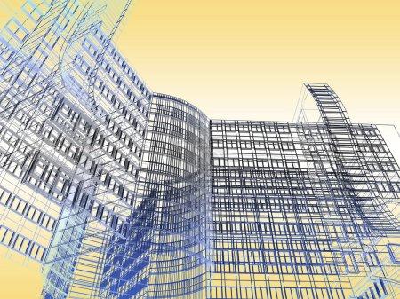 Photo pour Bâtiment moderne abstrait - image libre de droit