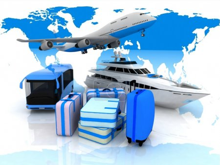 Types of transport liners and suitcases