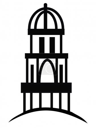 Temple or cupola logo