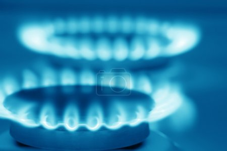 Natural gas stove (blue toned)