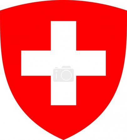 Swiss cross and shield