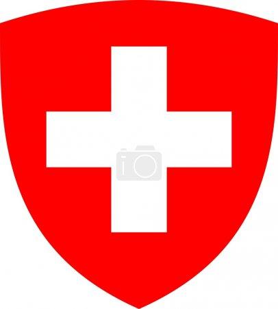 Photo pour Swiss cross et bouclier - image libre de droit