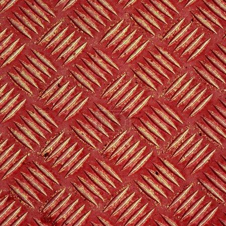 Red metal tile