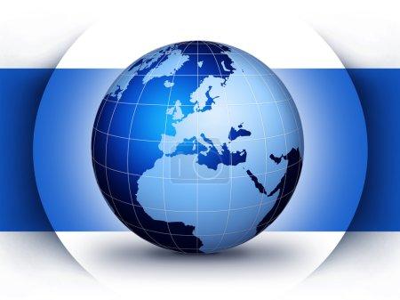 Photo pour Concept globe du monde bleu design... illustration de conception pour le globe monde. - image libre de droit