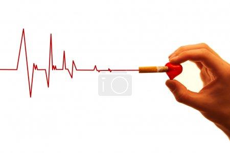 Cardiac arrest due to cigarette