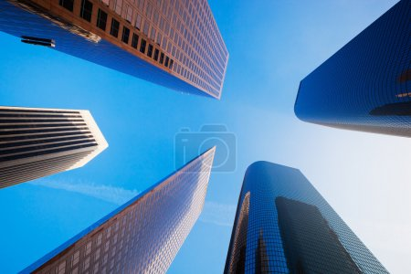 Sky Scrapers, Urban Buildings and Blue Sky