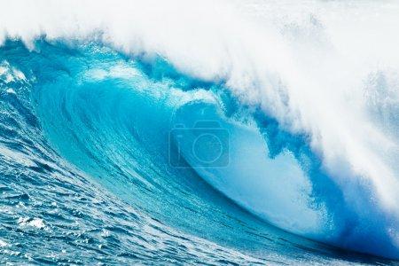 Photo pour Vague Océan Bleu - image libre de droit