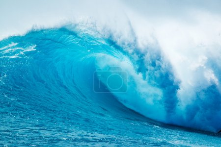 Photo for Beautiful Blue Ocean Wave - Royalty Free Image