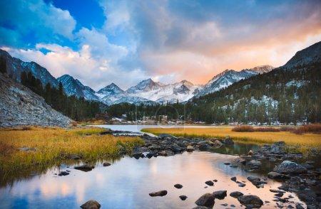 Photo for Amazing Landscape, Beautiful Mountain Sunset - Royalty Free Image