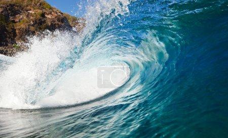 Photo pour Vague Océan Bleu, Vue de l'eau - image libre de droit