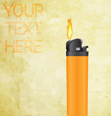 Vector lighter with fire concept