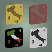 Badges set with italy map
