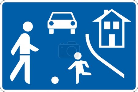 Illustration for Traffic signs which are found in road traffic - Royalty Free Image