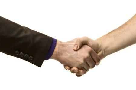 Man shaking hands