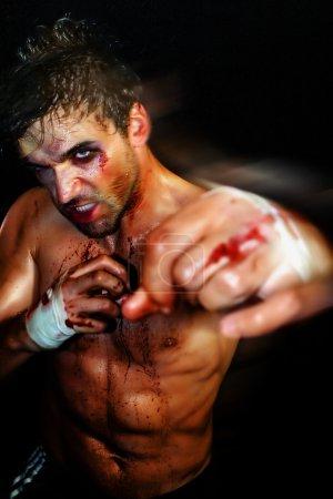 Sexy Boxer Punching