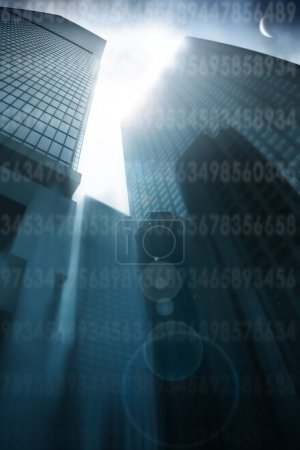 Abstract architectural background with skyscrapers...