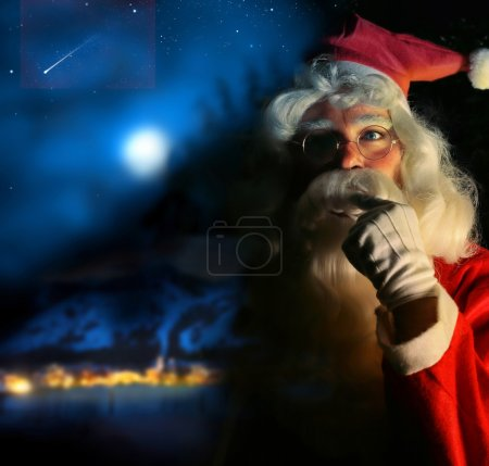 Photo for Nostalgic magical portrait of Santa Claus at the North Pole - Royalty Free Image