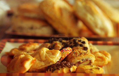 Photo for Warm shot of assorted cookies and pastries - Royalty Free Image