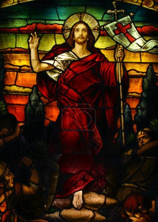Photo for Beautiful artistic stained glass portrait of Jesus - Royalty Free Image