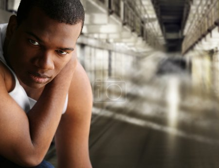 Portrait of a prisoner