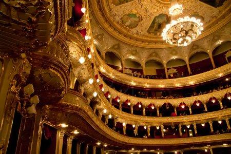 Photo pour Intérieur de la maison d'opéra dans odassa, ukraine - image libre de droit