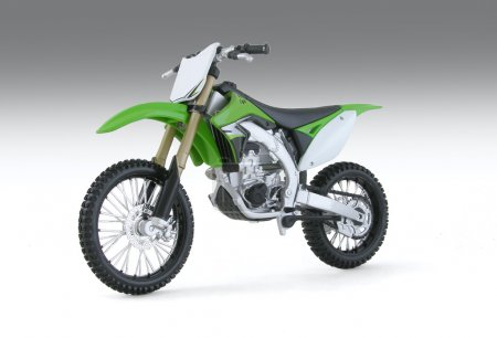 Green motocross motorcycle