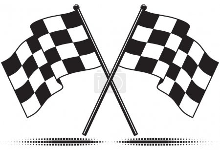 Vector checkered flags