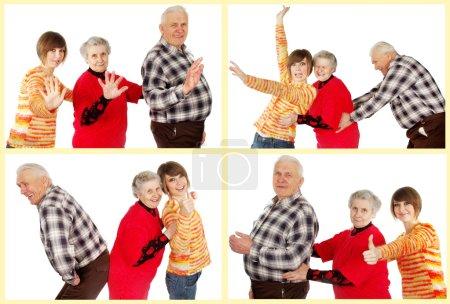 heureux grands-parents et petite-fille