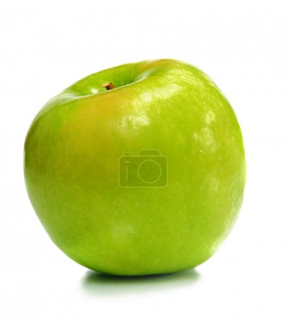 Photo for One green ripe apple for dessert - Royalty Free Image