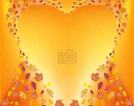 Heart of fall leafs