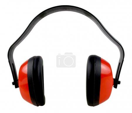 Photo pour Protection oreilles isolés sur fond blanc - image libre de droit