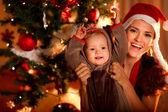 Portrét happy matka a roztomilé dítě