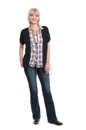 Full length portrait of middle age woman